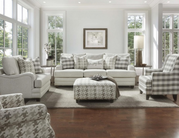 STERLING PLUS - LIVING ROOMS - FUSH-4480-KP - BASIC WOOL - SOFA, LOVE SEAT, ACCENT CHAIRS, AND OTTOMAN.