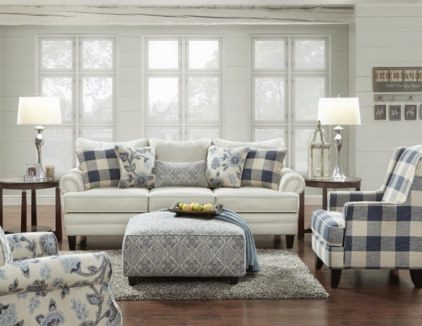 STERLING PLUS - LIVING ROOMS - FUSH-2810-KP - CATALINALINEN.  SOFA, LOVE SEAT ACCENT CHAIRS, OTTOMAN.