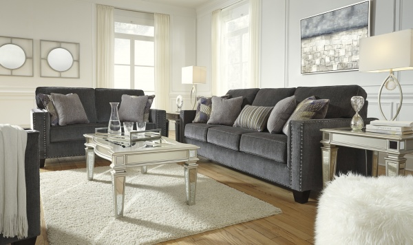 Sterling Plus - Liiving Rooms - Ashley - 43001  - Navy Blue - Transitional Sleeper, Sofa, Love Seat and Chair.