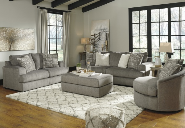 Sterling Plus - Living Rooms - Ashley - 95103 - Contempory Grey Sleeper, Sofa, Love Seat and Chair.