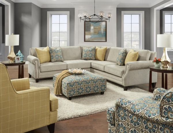 STERLING PLUS - LIVING ROOMS - FUSH - 2530-00 ZEALAND SECTIONAL