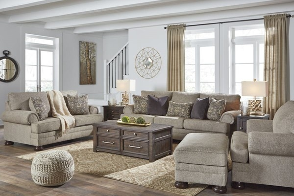 Sterling Plus  - Living Room - Ashley - 29603 Neutral Transitional Sofa - Love Seat - Chair - Ottoman