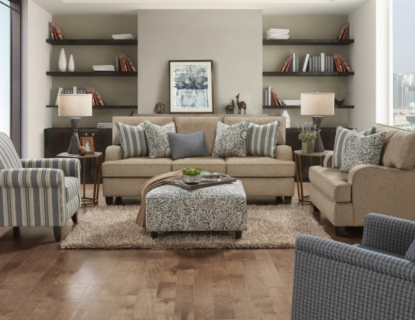 STERLING PLUS - LIVING ROOMS - FUSH-4250-KP  ANDERS MOCHA - SOFA, LOVE SEAT, ACCENT CHAIRS AND OTTOMAN.