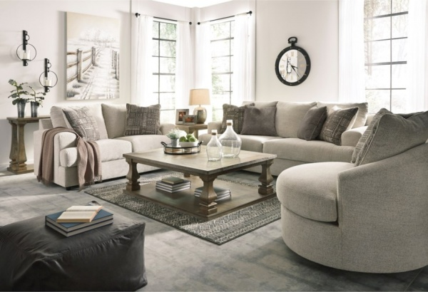 Sterling Plus - Living Rooms - Ashley - 95104 - Beige Contempory Queen sleeper, Sofa, Love Seat and Chair.