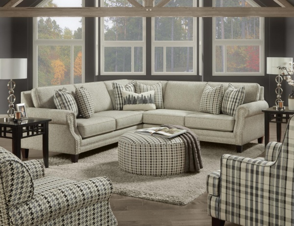 STERLING PLUS - LIVING ROOMS - FUSH-2531-21 PAPERCHASE BERBER SECTIONAL.