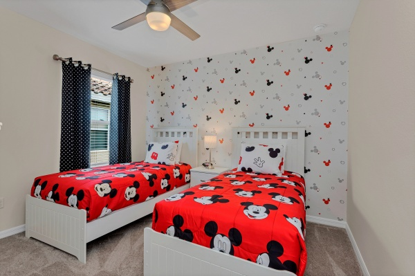 St. Lucia - Twin Themed Bedroom - Mickey
