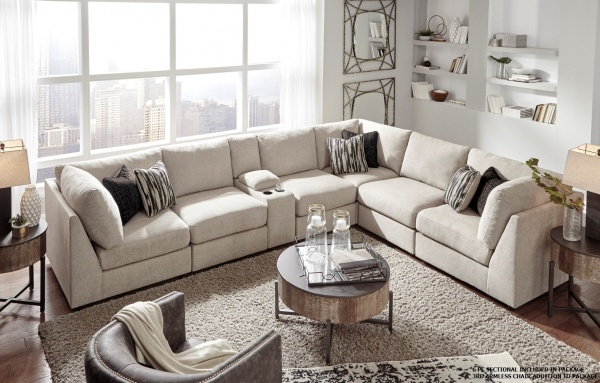 Sterling Plus - Living Room - Ashley - 98707 Modular Sectional - Beige contempory.