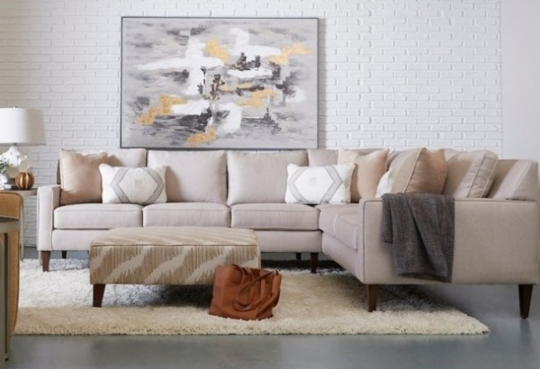 EXECUTIVE L/R - KLU-K743OO - CUSTOM SOFA AND LOVESEAT W/ TRACK ARMS AND TAPERED WOOD LEGS - NOHO COLLECTION.
