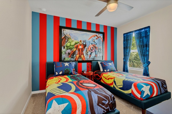 St. Lucia - Twin Themed Bedroom