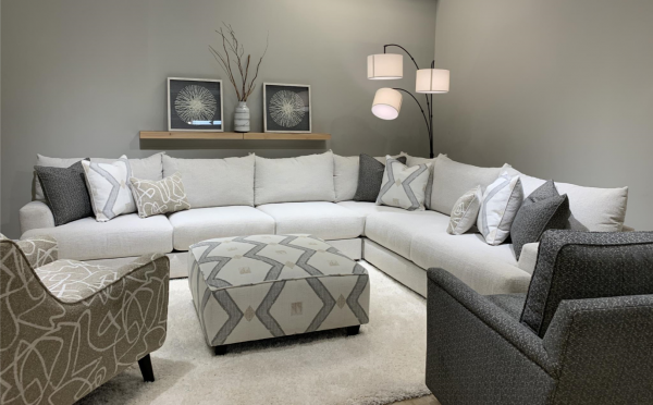 Sterling Plus - Living Rooms - FUSH- 51-00KP - Braxton - Sectional, Cocktail and Accent Chairs.