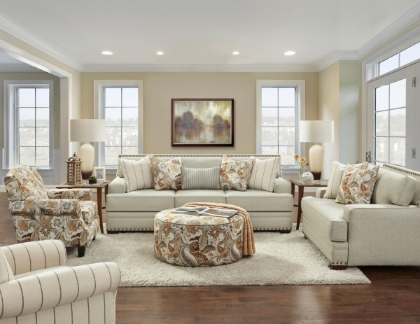 STERLING PLUS - LIVING ROOMS - FUSH-8700-KP - MORRE METAL - SOFA, LOVE SEAT, ACCENT CHAIRS AND OTTOMAN.