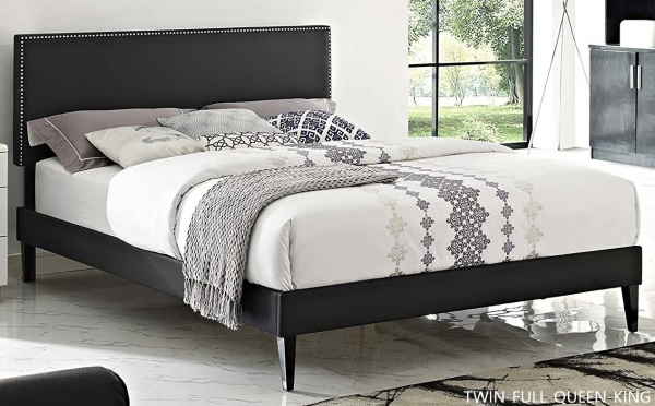 EXECUTIVE SECONDARY SUITES - UPHOLSTERED BEDS - MOD- MACIE - BLK.