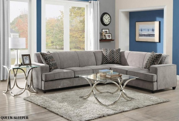 STERLING PLUS - LIVING ROOMS - COA- 500727 QUEEN SLEEPER SECTIONAL