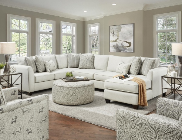 STERLING PLUS - LIVING ROOMS - FUSH-28 - HOMECOMING STONE SECTIONAL.