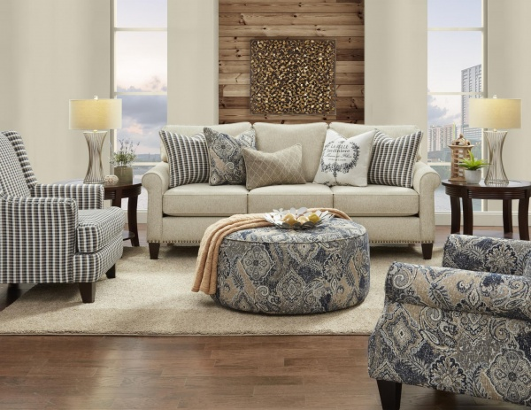 STERLING PLUS - LIVING ROOMS - FUSH-47-00KP - DARE SPICE - SOFA - LOVE SEAT - ACCENT CHAIRS AND OTTOMAN.