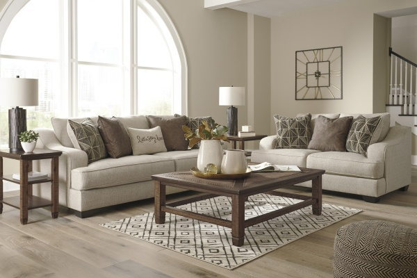 Sterling Plus - Living Rooms - Ashley - 20901 Neutral Sofa and Love Seat.