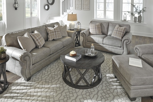 STERLING PLUS - LIVING ROOMS - ASH-487021  TRANSITIONAL SLEEPER, SOFA, LOVE SEAT AND CHAIR.