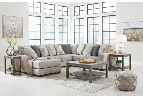 Sterling Plus - Living Rooms - Ashley - 39504 Sectional - Grey / Teal