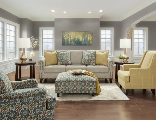 STERLING PLUS - LIVING ROOMS - FUSH - 2530 - ZEALAND SOFA - LOVE SEAT - ACCENT CHAIRS - OTTOMAN.