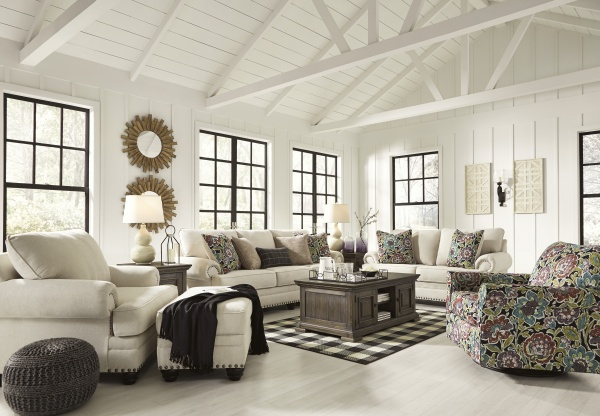 Sterling Plus - Living Rooms - Ashley - 76604 Transitional Sofa, Love Seat, Chair.