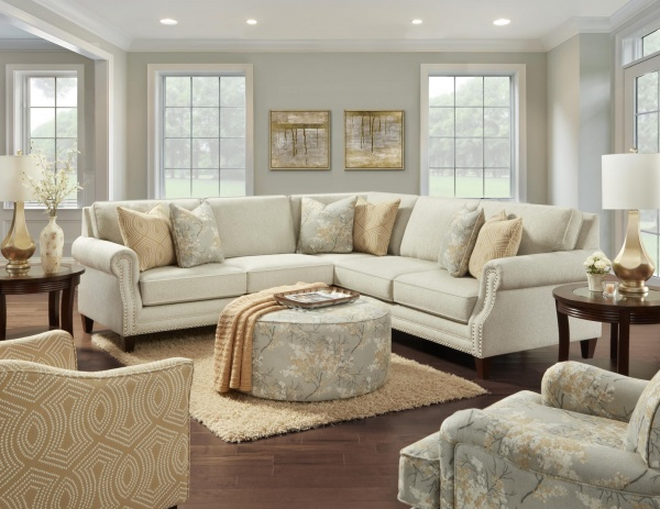 STERLING PLUS - LIVING ROOMS - FUSH - 2531-21 - INTENTION TAUPE SECTIONAL.