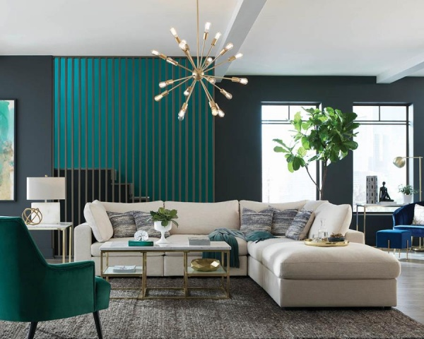 STERLING PLUS - LIVING ROOMS - COA - 551321 - COA - CONTEMPORY SECTIONAL